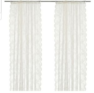 4 Pair Lace Curtains